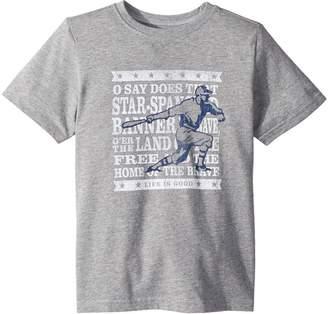 Life is Good Brave Baseball Crusher T-Shirt Boy's T Shirt