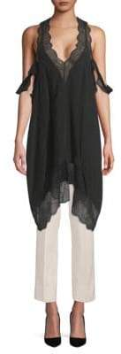 Zadig & Voltaire Tavi Lace-Trimmed Silk-Blend Tunic