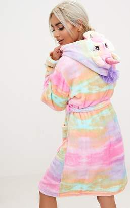PrettyLittleThing Rainbow Unicorn Dressing Gown