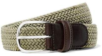 Andersons Anderson's Solid Woven Elastic Belt in Tan