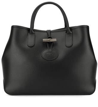 Longchamp logo embossed tote bag