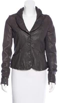 AllSaints Shawl Collared Leather Jacket