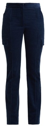 Stella McCartney Slim Fit Cotton Corduroy Trousers - Womens - Blue