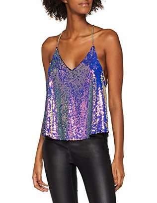 New Look Women's Chain Strap Vest Top (Dark Purple 57), (Manufacturer Size:14)