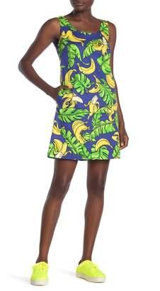 Love Moschino Sleeveless Banana Print Dress