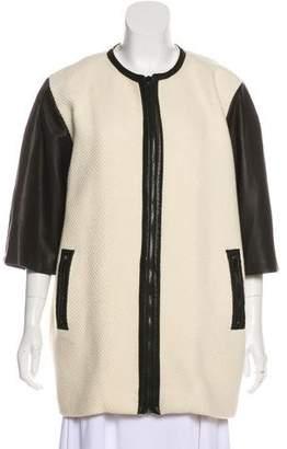 Alice + Olivia Wool Zip-Up Coat