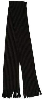 Issey Miyake HOMME PLISSÉ Pleated Fringe Scarf w/ Tags