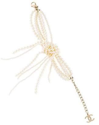 Chanel Faux Pearl Knot Multistrand Bracelet
