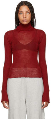 Maison Margiela Red Delicate Wool Turtleneck