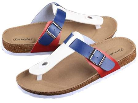 Begin Women Buckle T Strap Sandal Footbed Sandals Flat Platform Flip Flops Shoes