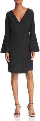 Sam Edelman Bell-Sleeve Crossover Dress