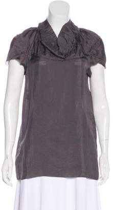 Marni Pleated Short Sleeve Top