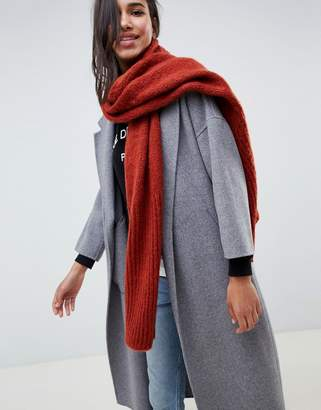 French Connection ribbed knit scarf