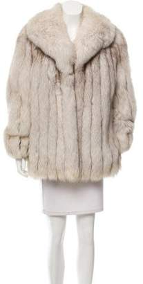 Fur Arctic Snow Fox Coat