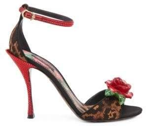 Dolce & Gabbana Studded Leopard d'Orsay Stiletto Heels