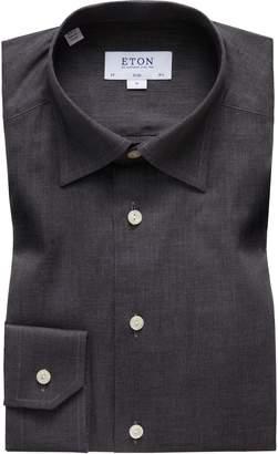 Eton Slim Fit Flannel Dress Shirt