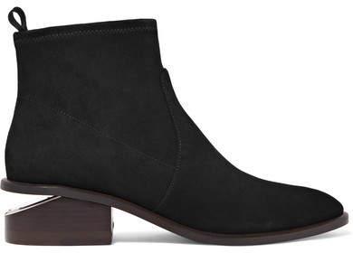 Alexander Wang - Kori Cutout Suede Ankle Boots - Black