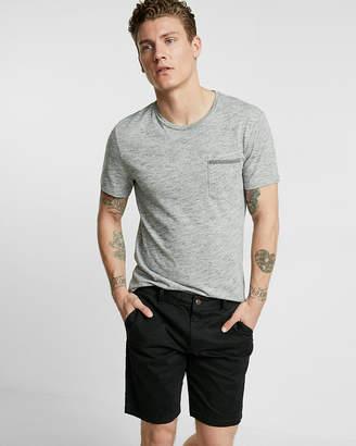 Express Slim Fit 9 Inch Flex Stretch Garment Dyed Twill Shorts