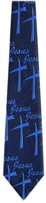 Buy Your Ties CH-354 - Mens Novelty Christian Necktie - Blue