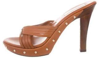 Michael Kors Platform Leather Sandals