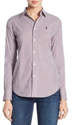 Polo Ralph Lauren Stretch Slim-Fit Striped Shirt $98.50 thestylecure.com