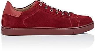 Gianvito Rossi Men's Suede Low-Top Sneakers - Red