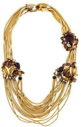 Erickson Beamon Resin, Crystal & Tiger's Eye Collar Necklace