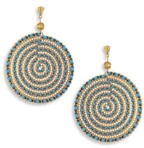 Ettika Teal Swirl Chain Earrings
