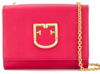 Furla 'FF' logo satchel