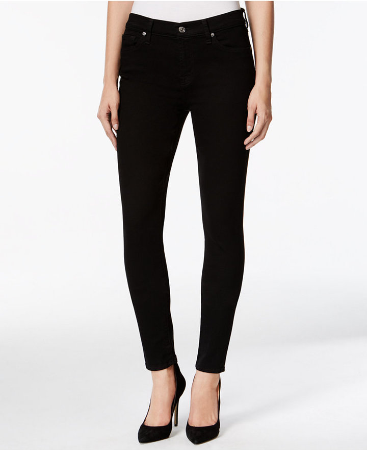 7 For All Mankind7 For All Mankind Black Wash Skinny Jeans