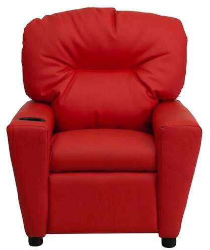 Zoomie Kids Candy Kids Recliner with Cup Holder