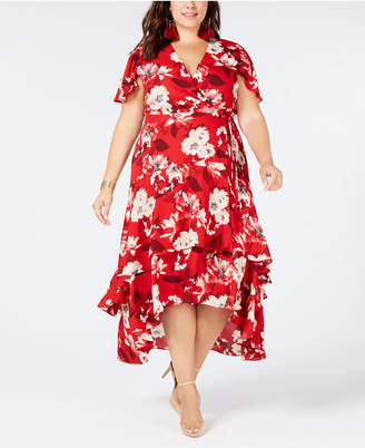 INC International Concepts I.n.c. Plus Size Flutter-Sleeve Maxi Dress, Created for Macy's