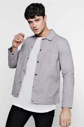 boohoo Cotton Twill Coach Jacket