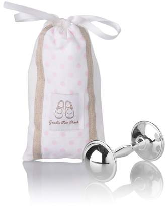 English Trousseau Rattle in Cotton Bag (Pink)