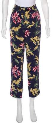 Whistles Silk High-Rise Pants