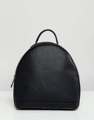 Street Level Black Minimal Zip Backpack