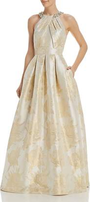 Eliza J Embellished Floral Ball Gown