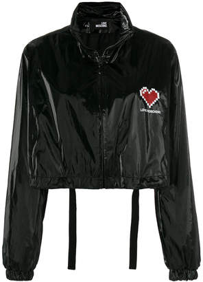 Love Moschino cropped logo jacket