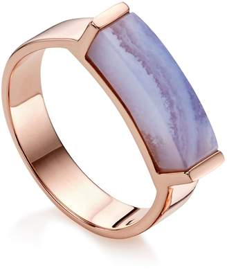 Monica Vinader Linear Lace Agate Stone Ring