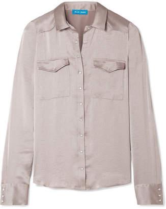 MiH Jeans Venetia Satin Shirt - Mushroom