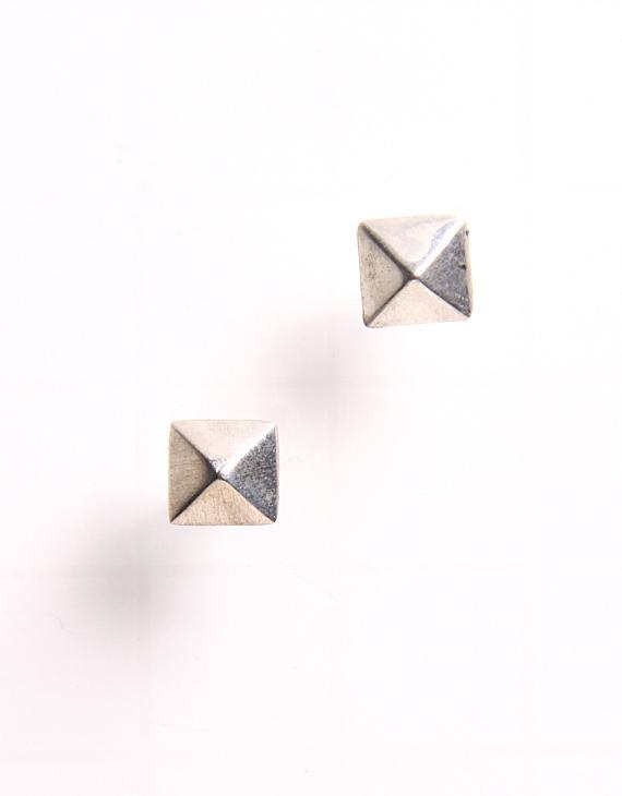 Shana Lee Sterling Silver Pyramid Studs