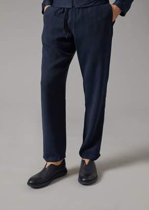 Giorgio Armani Cupro Drawstring Trousers