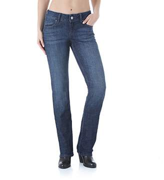 Wrangler Women's Size Plus Mid Rise Straight Jean