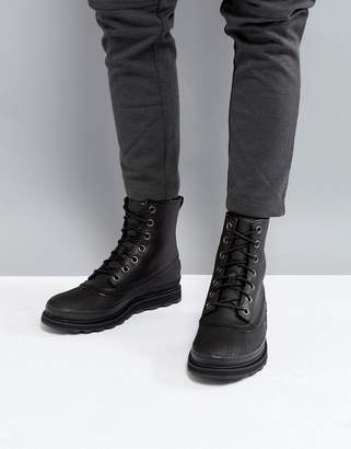 Sorel Madson Waterproof Leather Boots In Black
