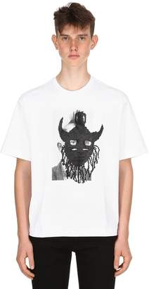 Diesel Black Gold Mask Cotton Jersey T-Shirt