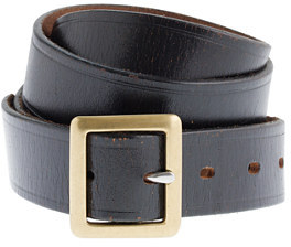 J.Crew Embossed-edge belt with center bar buckle