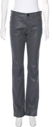 Alexander McQueen High-Rise Coated Jeans