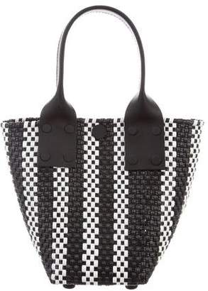 Truss Leather Woven Mini Tote w/ Tags