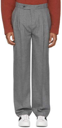 Editions M.R Grey High-Rise Pleated Trousers