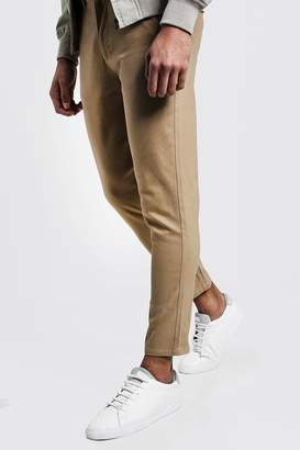 boohoo Skinny Fit Cropped Chino Trouser